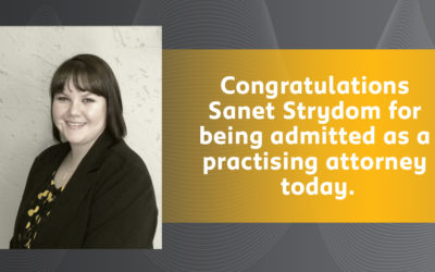 Sanet Strydom –  Admitted Attorney