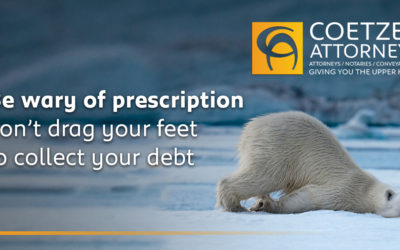 Be wary of prescription – don't drag your feet to collect your debt