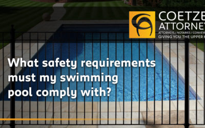 What safety requirements must my swimming pool comply with?