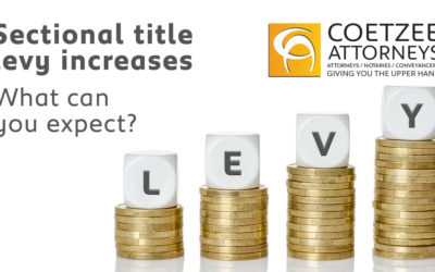 Sectional title levy increases