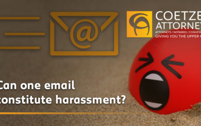 Can one email constitute harassment?