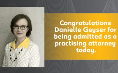Well done Danielle!